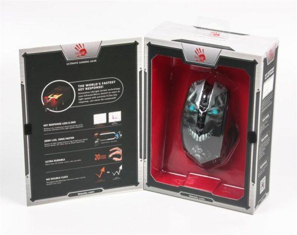 Миша бездротова A4Tech  R80A Bloody Skull Black USB - купить в интернет-магазине Анклав