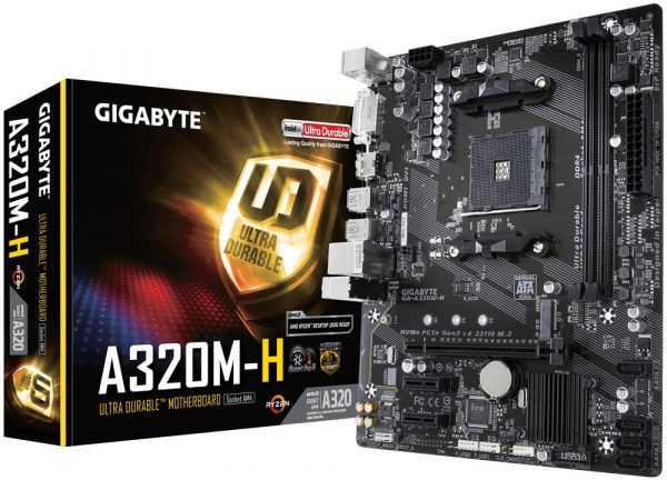 Gigabyte GA-A320M-H Socket AM4 - купить в интернет-магазине Анклав