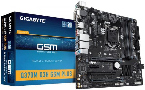 Gigabyte Q370M D3H GSM Plus Socket 1151 - купить в интернет-магазине Анклав