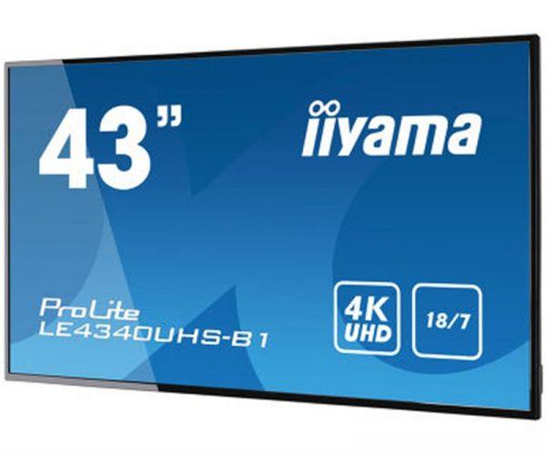 "Iiyama 42.5"" LE4340UHS-B1 AMVA3 Black - купить в интернет-магазине Анклав"
