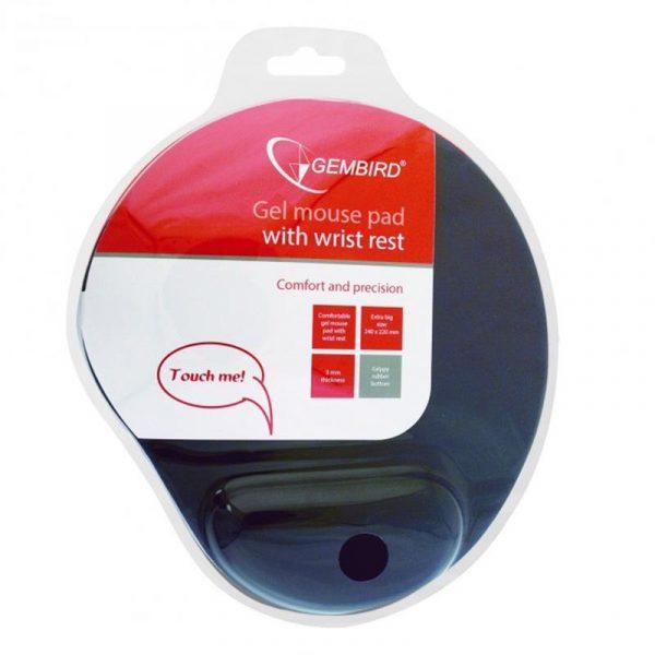 Килимок для миші Gembird MP-GEL-BK - купить в интернет-магазине Анклав