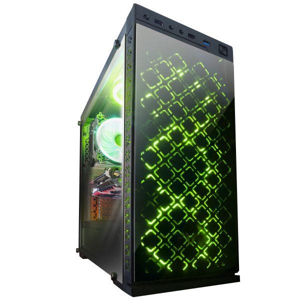 Корпус Frime Illusion green led USB 3.0 без БП (Illusion-U3-GLS-4GDRF) - купить в интернет-магазине Анклав