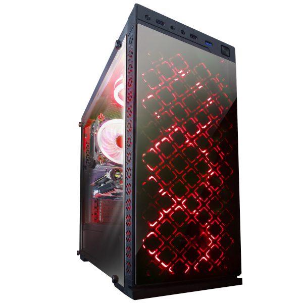 Корпус Frime Illusion red led USB 3.0 без БП (Illusion-U3-GLS-4RDRF) - купить в интернет-магазине Анклав