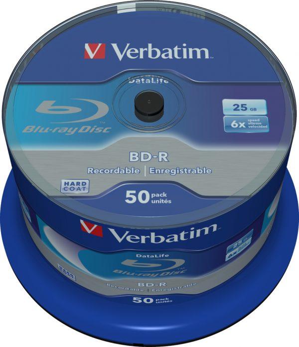 Диски BD-R SL Verbatim (43838) 25GB 6x Datalife, 50шт Spindle - купить в интернет-магазине Анклав