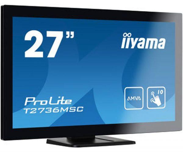 "Iiyama 27"" T2736MSC-B1 AMVA Black Multitouch - купить в интернет-магазине Анклав"