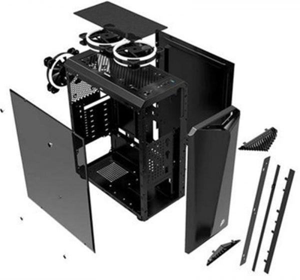 Корпус 1stPlayer Rainbow-R3 Color LED Black без БП 6931630200376 - купить в интернет-магазине Анклав