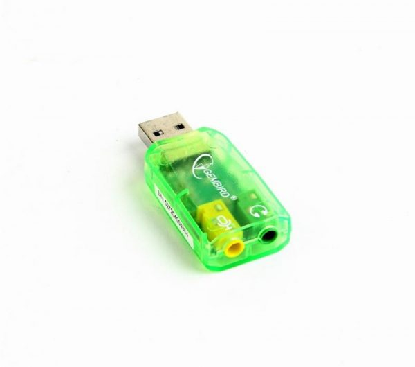 Звукова карта Gembird SC-USB-01 Green - купить в интернет-магазине Анклав