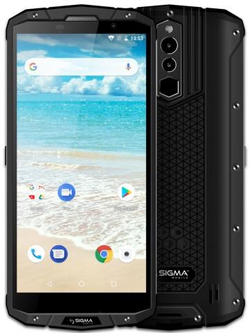 Sigma mobile X-treme PQ54 Dual Sim Black+беспроводная зарядка QI - купить в интернет-магазине Анклав