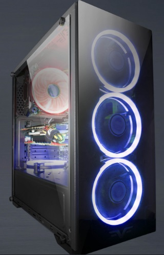 Корпус Frime Wanda blue led USB 3.0 без БП (Wanda-U3-GLS-4BDRF) - купить в интернет-магазине Анклав