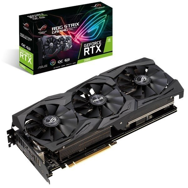 GF RTX 2060 6GB GDDR6 ROG Strix Gaming OC Asus (ROG-STRIX-RTX2060-O6G-GAMING) - купить в интернет-магазине Анклав
