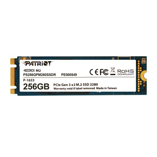 SSD  256GB Patriot Scorch M.2 2280 PCIe 3.0 x2 3D TLC (PS256GPM280SSDR) - купить в интернет-магазине Анклав