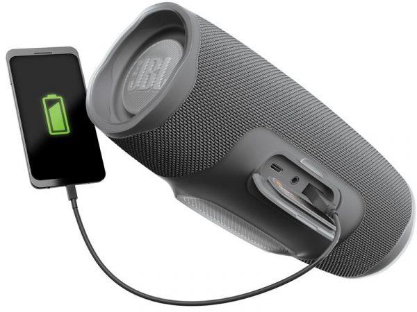 Акустическая система JBL Charge 4 Grey (JBLCHARGE4GRY) - купить в интернет-магазине Анклав