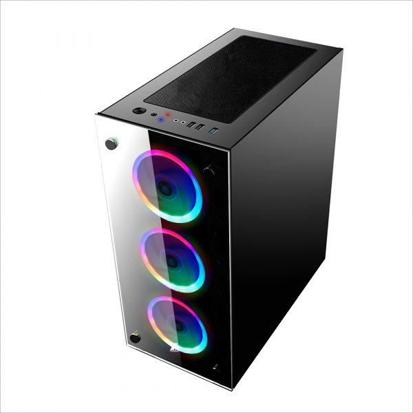 Корпус 1stPlayer V6-R1 Color LED Black без БП - купить в интернет-магазине Анклав