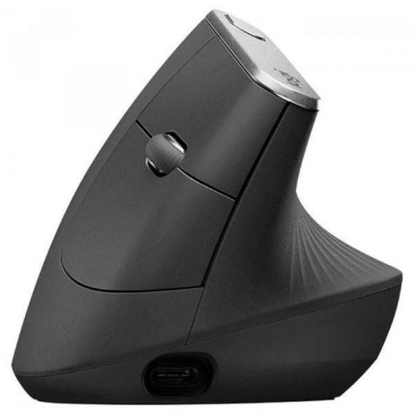 Мышь Bluetooth+Wireless Logitech MX Vertical (910-005448) Black - купить в интернет-магазине Анклав