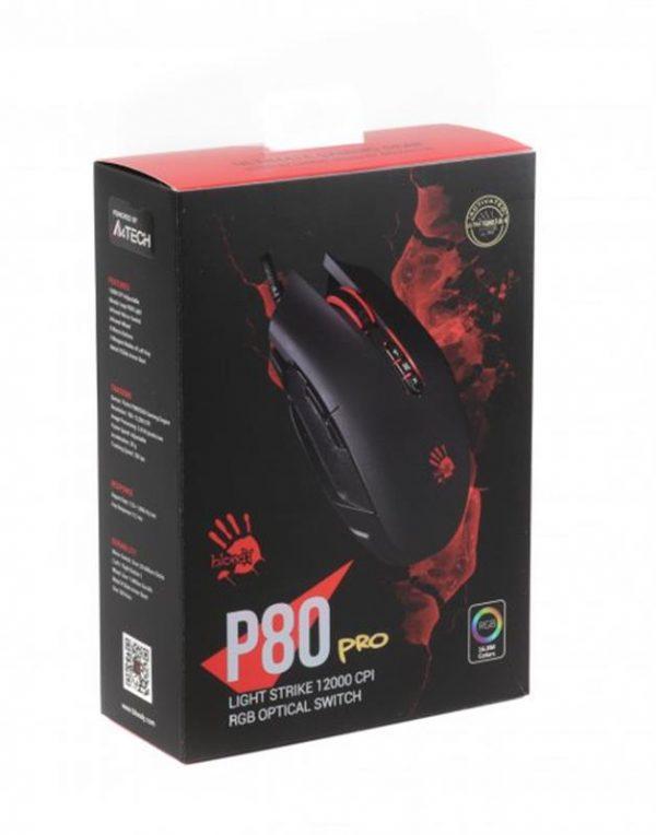 Мишка A4Tech P80 Pro Bloody Activated Black USB - купить в интернет-магазине Анклав