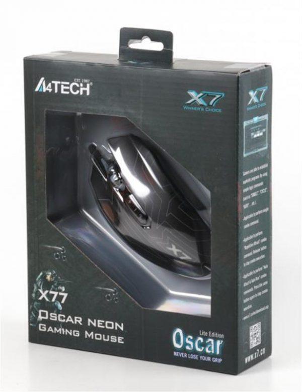 Мишка A4Tech X77 Oscar Neon Black USB - купить в интернет-магазине Анклав