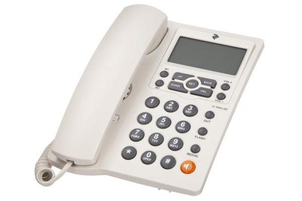 Проводной телефон 2E AP-410 Beige White - купить в интернет-магазине Анклав
