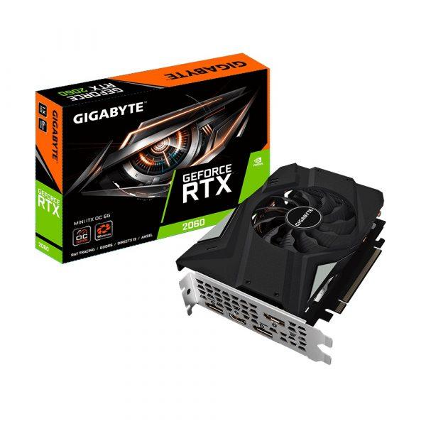 GF RTX 2060 6GB GDDR6 Mini ITX OC Gigabyte (GV-N2060IXOC-6GD) - купить в интернет-магазине Анклав