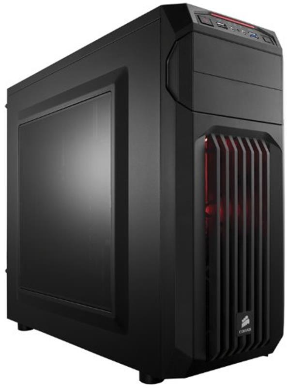 Корпус Corsair Carbide SPEC-01 Red LED Black (CC-9011050-WW) без БП - купить в интернет-магазине Анклав