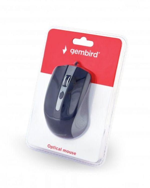 Мышь Gembird MUS-4B-01-GB Black/Grey USB - купить в интернет-магазине Анклав