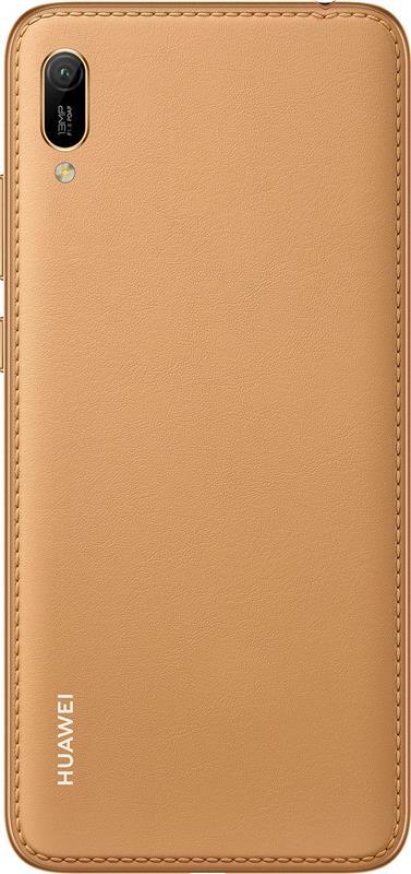 Huawei Y6 2019 Dual Sim Amber Brown Faux Leather - купить в интернет-магазине Анклав