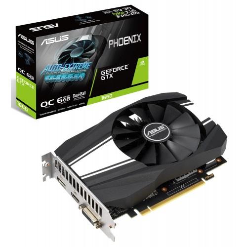 GF GTX 1660 6GB GDDR5 Phoenix OC Asus (PH-GTX1660-O6G) - купить в интернет-магазине Анклав