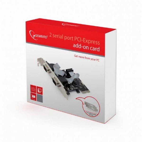 Контроллер Gembird (SPC-22) PCI-Express - 2 RS-232 - купить в интернет-магазине Анклав