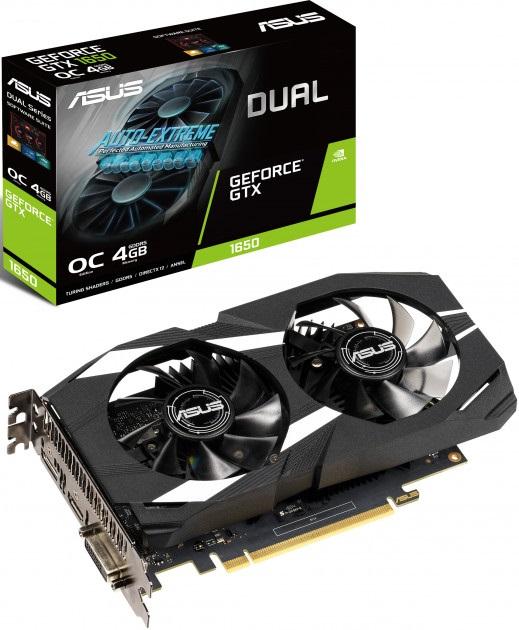 GF GTX 1650 4GB GDDR5 Dual OC Asus (DUAL-GTX1650-O4G) - купить в интернет-магазине Анклав