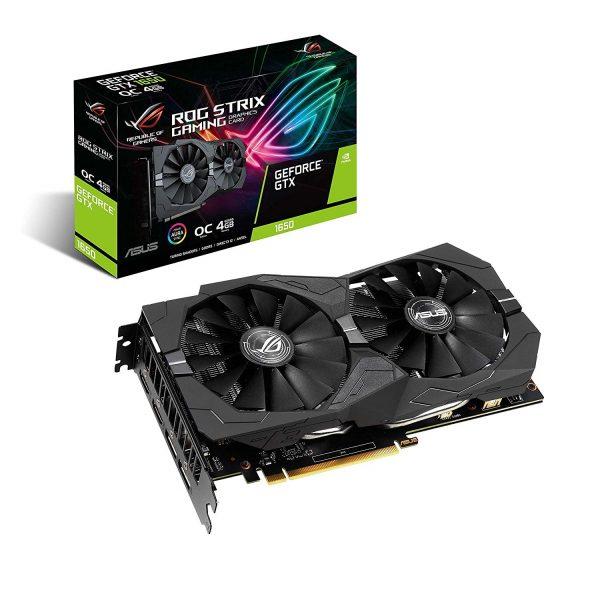 GF GTX 1650 4GB GDDR5 ROG Strix Gaming OC Asus (ROG-STRIX-GTX1650-O4G-GAMING) - купить в интернет-магазине Анклав