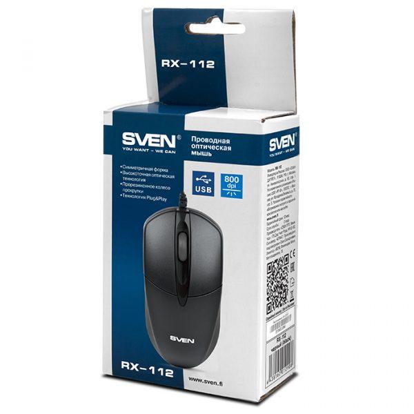 Мишка Sven RX-112 Black USB - купить в интернет-магазине Анклав