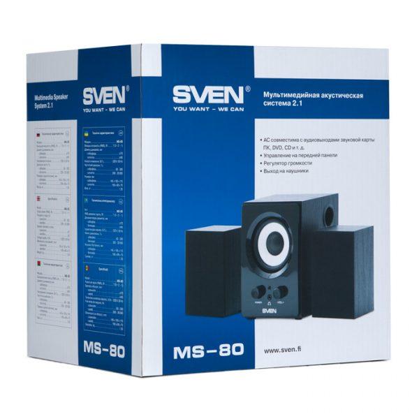 Акустична система Sven 2.1 MS-80 Black - купить в интернет-магазине Анклав