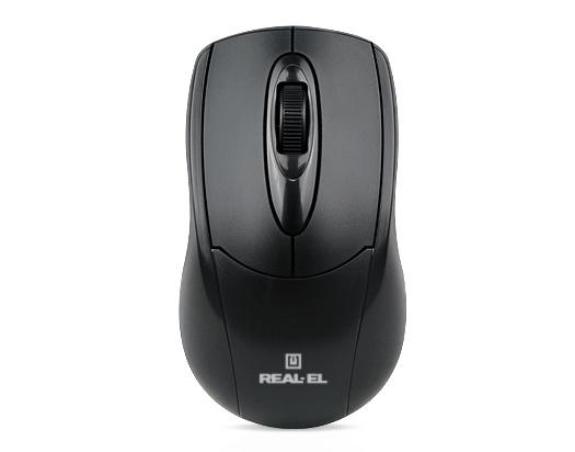 Мишка REAL-EL RM-207 Black USB - купить в интернет-магазине Анклав