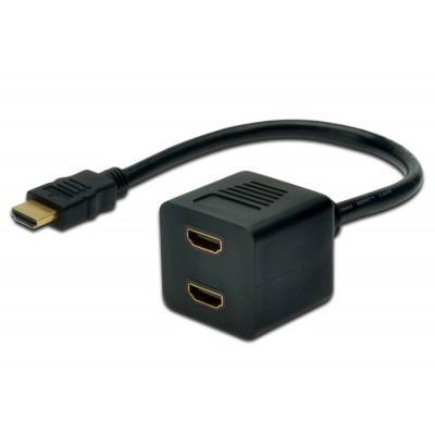 Розгалуджувач HDMI F to 2xHDMI M DIGITUS (AK-330400-002-S) - купить в интернет-магазине Анклав