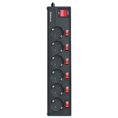 REAL-EL RS-6 EXTRA 1.8m, black (EL122300001) - купить в интернет-магазине Анклав