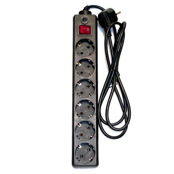 Мережний фільтр живлення PATRON 6 РОЗЕТОК BLACK 1.8M (EXT-PN-SP-62) - купить в интернет-магазине Анклав