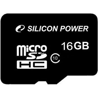 16GB Silicon Power microSDHC class 10 + adapter (SP016GBSTH010V10SP) - купить в интернет-магазине Анклав