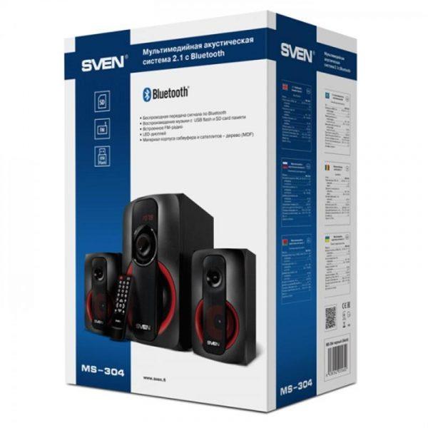 Акустична система Sven MS-304 Black/Red - купить в интернет-магазине Анклав