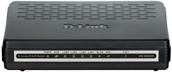 VoIP-Шлюз D-Link DVG-N5402SP/1S 802.11n, 1xFXS, 4xFE LAN, 1xFE WAN - купить в интернет-магазине Анклав