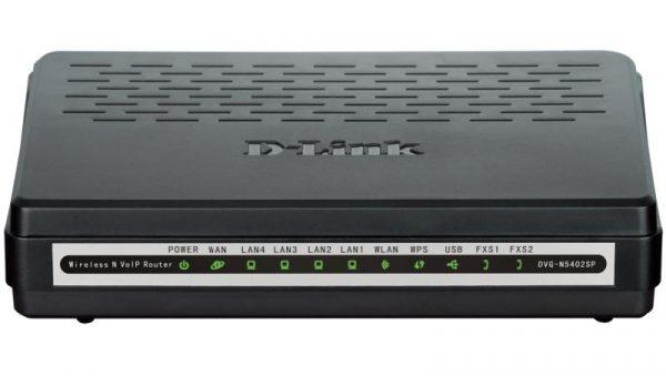 VoIP-Шлюз D-Link DVG-N5402SP/2S1U 802.11n, 4xFE LAN, 1xFE WAN, 2xFXS, 1xUSB - купить в интернет-магазине Анклав