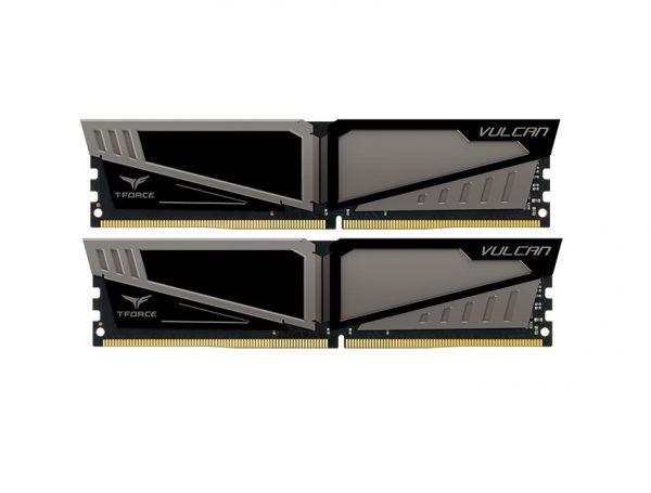 DDR4 2x4GB/2400 Team T-Force Vulcan Gray (TLGD48G2400HC14DC01) - купить в интернет-магазине Анклав