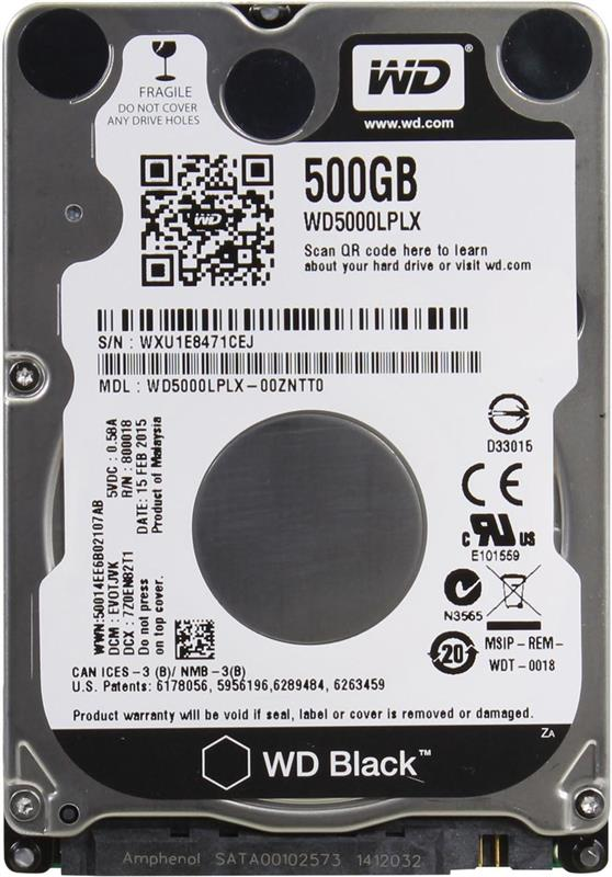 "HDD 2.5"" SATA  500GB WD Black 7200rpm 32MB (WD5000LPLX) - купить в интернет-магазине Анклав"