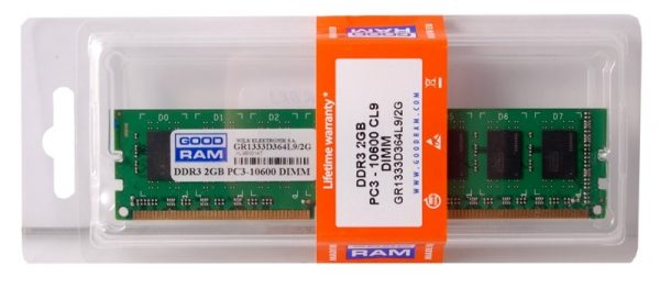 DDR3 2GB/1333 GOODRAM (GR1333D364L9/2G) - купить в интернет-магазине Анклав