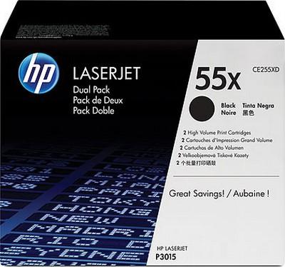 Картридж HP 55X LJ P3015/M521 series (max) Dual Pack (CE255XD) - купить в интернет-магазине Анклав