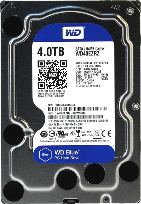 HDD SATA 4.0TB WD Blue 5400rpm 64MB (WD40EZRZ) - купить в интернет-магазине Анклав