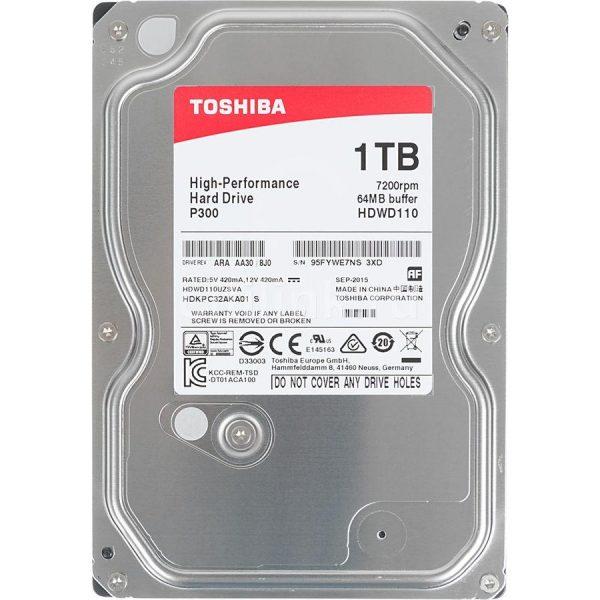 HDD SATA 1.0TB Toshiba P300 7200rpm 64MB (HDWD110UZSVA) - купить в интернет-магазине Анклав