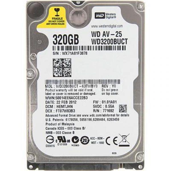 "HDD 2.5"" SATA  320GB WD AV-25 5400rpm 16MB (WD3200BUCT) гар. 12 мес. - купить в интернет-магазине Анклав"