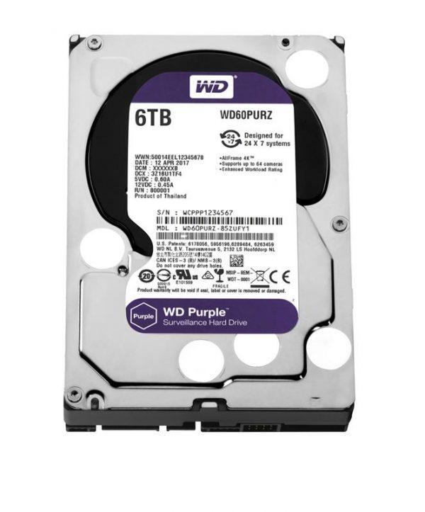HDD SATA 6.0TB WD Purple 5400rpm 64MB (WD60PURZ) - купить в интернет-магазине Анклав