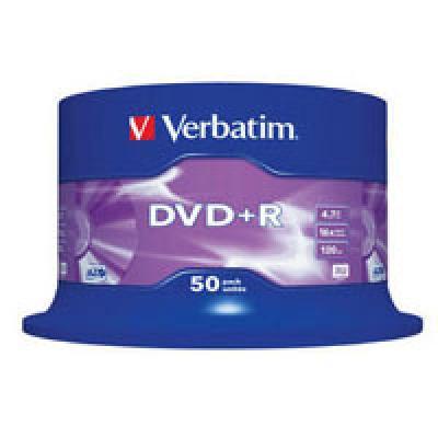 Диски DVD+R 4.7GB VERBATIM  Cake Box (43550) 16x, 50шт Silver - купить в интернет-магазине Анклав