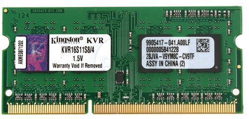Модуль памяти SO-DIMM 4GB/1600 DDR3 Kingston ValueRAM (KVR16S11S8/4) - купить в интернет-магазине Анклав