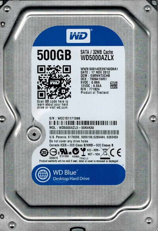 Накопичувач HDD SATA  500GB WD Blue 7200rpm 32MB (WD5000AZLX) - купить в интернет-магазине Анклав